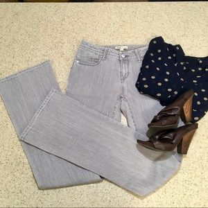 NWT CAbi light grey wide leg jeans!